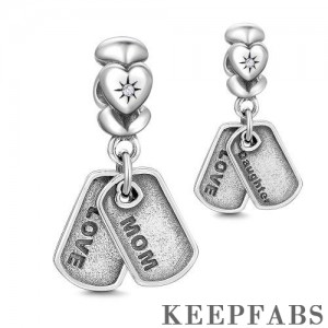 Mom and Daughter Dangle Charm