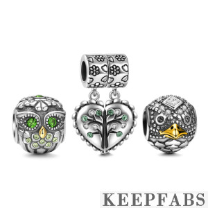 Lots of Luck Charm Set of 3 Silver
