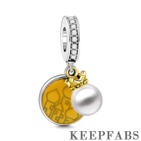 Live A Wonderful Life Charm 14k Gold Plated Silver