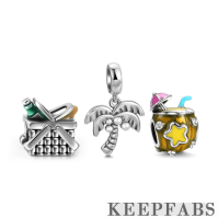 Go to the Sea Charm Set of 3 Silver
