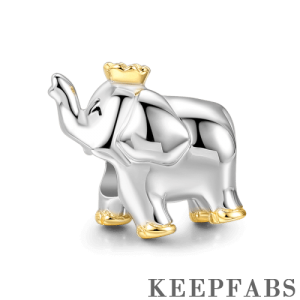 Thailand Elephant Charm 14k Gold Plated Silver
