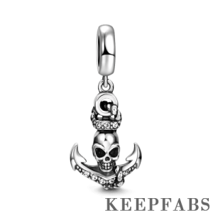 Anchor Dangle Charm Silver