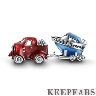 Serenity Tugboat Charm Set of 2 Silver