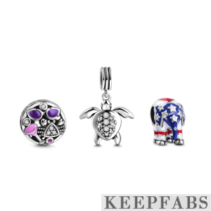 Holiday Charm Set of 3 Silver