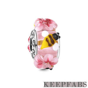 Spring Murano Glass Bead Silver