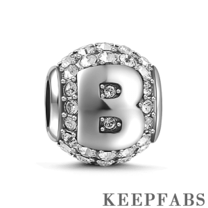 Letter B Charm Silver
