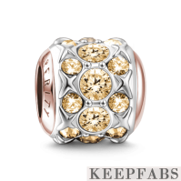 Prosperity Charm Rose Gold Plated Silver