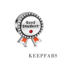 Good Student Charm Silver