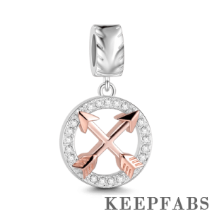 Friendship Charm Rose Gold Plated Silver