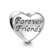 Forever Friends Heart Charm Silver