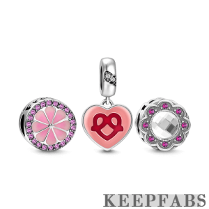 Friendship Charm Set of 3 Silver