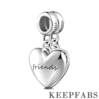 Forever Friends Dangle Charm Silver