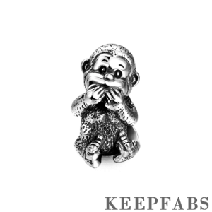 Speak No Evil Charm Silver