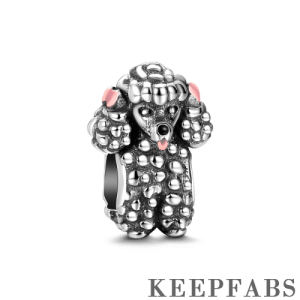 Poodle Charm Silver