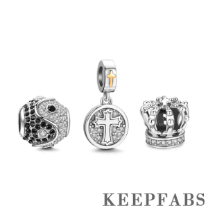 Belief Charm Set of 3 Silver
