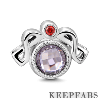 Silver Libra Charm with CZ