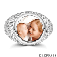 Round Mother's Photo Ring