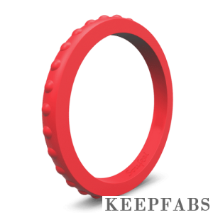 Keepfab Women's Red Silicone Ring - Hypoallergenic