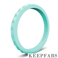 Keepfab Women's Light Blue Silicone Ring - Hypoallergenic