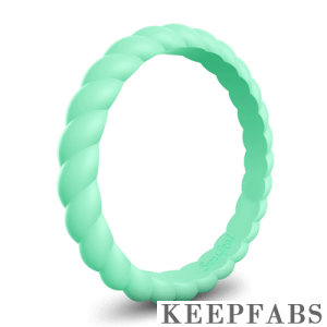 Keepfab Women's Light Green Silicone Ring - Hypoallergenic