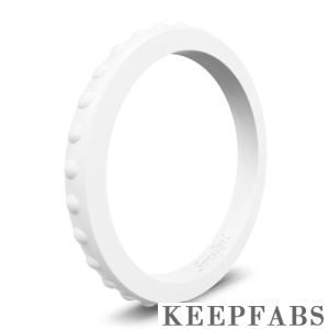 Keepfab Women's White Silicone Ring - Hypoallergenic