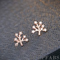 Rose Gold Plated Wishing Tree Ear Studs