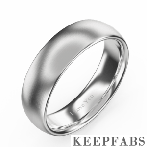 Men's Polished Tungsten Promise Ring with Engraving