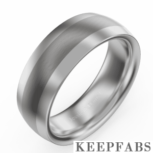 Men's Brushed Tungsten Promise Ring with Engraving